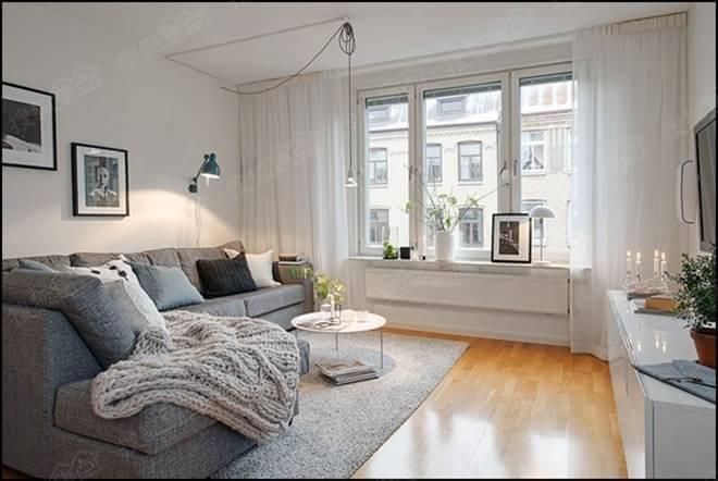 5000元搞定小户型北欧风格客厅图片