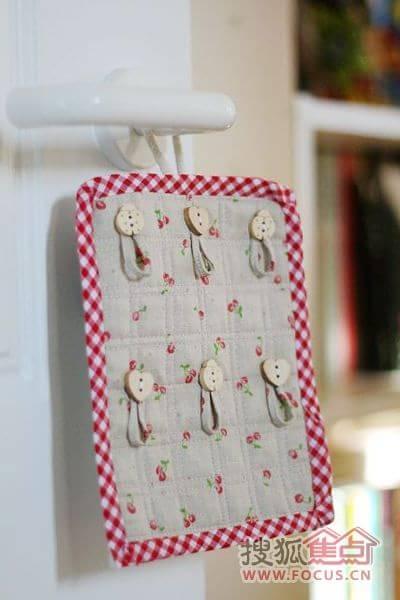 网友手工制作的diy的小花篮和布艺墙挂饰品