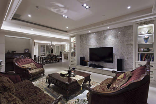 二级棚造型客厅图片