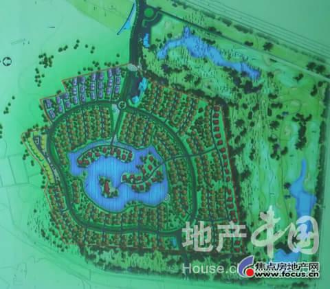 高尔夫球场效果图-论别墅区的规划设计