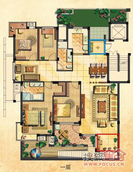90平方加楼梯三房设计图