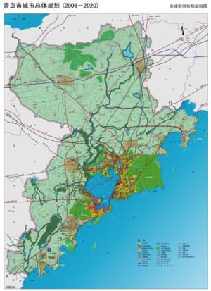 市域空间布局规划图-青岛新一轮城市总规划出炉