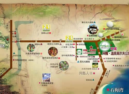 老榕树山顶温泉度假村位于海南省万宁市兴隆镇,温泉大道与兴梅图片
