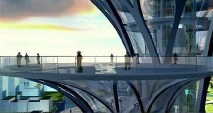 奥林匹克公园瞭望塔 网友吐槽像五颗钉子